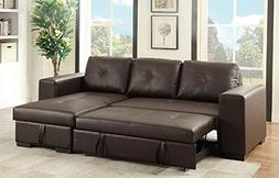bobkona nathan faux leather sectional