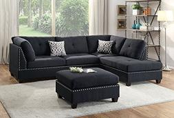 Poundex Bobkona Viola Reversible Chaise Sectional XQP1506