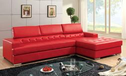 Bonded Leather T-Cushion Seating Contemporary Look Sectional