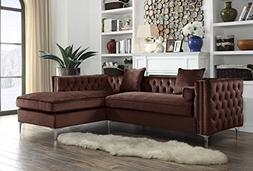 Iconic Home Bosch Velvet Modern Contemporary Button Tufted w