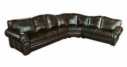 Botswana Croc Leather Large Sectional Seating Sofas Brown Fu