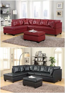 Brand New Pu Leather Living Room Furniture Sectional Sofa Se