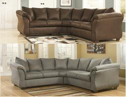 CAFE BROWN COBBLESTONE GRAY SECTIONAL SOFA ASHLEY DARCY SIGN