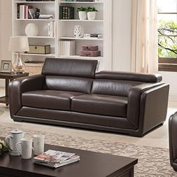 AC Pacific Calvin Collection Modern Style Leather Upholstere
