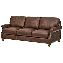 "Stone & Beam Charles Classic Oversized Leather Sofa, 92""W, S"