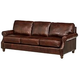 "Stone & Beam Charles Classic Oversized Leather Sofa, 92""W, W"