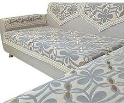 Chenille Lace Custom Sectional Sofa Couch Cover Furniture Pr