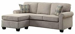 "Homelegance Clumber 82"" Reversible Sectional with Accent Pil"