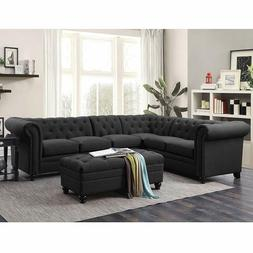 Coaster Home Furnishings 500413 Living Room Sectional Sofa,