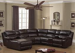 AC Pacific Colton Collection Transitional 6-Piece Upholstere