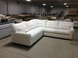 Pottery Barn Comfort Round Right Left Arm sectional Sofa Lov
