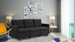 Contemporary 3Pc Sectional Modern Sofa Upholstered Love-seat