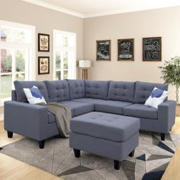 contemporary 4pcs sectional sofa set l shaped