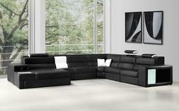 Contemporary Bonded Leather Corner Sectional Sofa VIG Divani