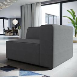 Contemporary Modern Upholstered Fabric Sectional Sofa Left-A