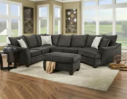 Chelsea Home 3-Pc Contemporary Sectional Set