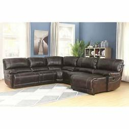 Abbyson Cooper 6-piece Dark Brown Sectional Sofa Dark Brown