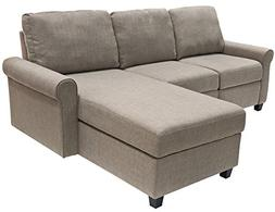 Serta Copenhagen Reclining Sectional with Right Storage Chai
