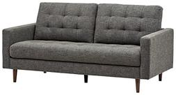 "Rivet Cove Mid-Century Tufted Sofa, 71.7""W, Dark Grey"