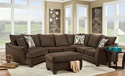 Chelsea Home Furniture Cupertino 3-Piece Sectional, Flannel