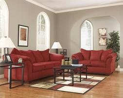 Ashley Furniture Darcy Salsa Sofa and Loveseat Living Room S
