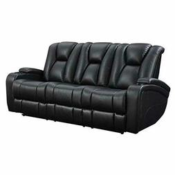 Delange Reclining Power Sofa with Adjustable Headrests and S