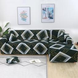 Elastic L Shape Sofa Cover 2pcs Seperate Couch Protector for