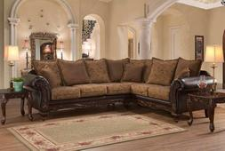 Elegant Sectional Traditional Sofa Couch For Living Room Lar