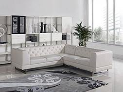Limari Home Elisa Collection Modern Living Room Leatherette
