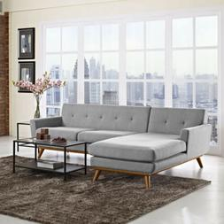 Modway Engage Mid-Century Modern Upholstered Fabric Left-Fac