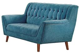 Homelegance Erath Danish Modern Mid Century Loveseat with Tu