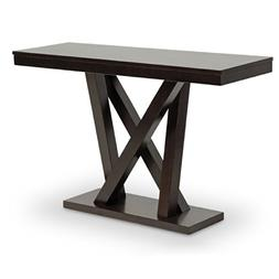 everdon dark brown modern console