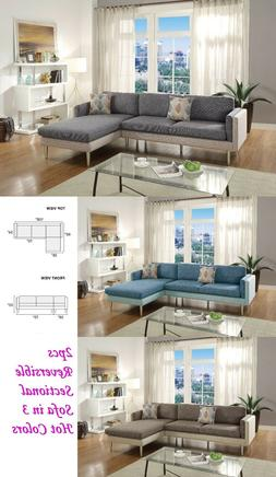 Eye-Catching 2pcs Sectional Sofa Reversible Chaise Pillows P