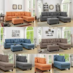 Eye-Catching Living Room Reversible 2pcs Sectional Sofa Chai