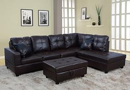 Beverly Fine Furniture F093A Left Facing Russes Sectional So