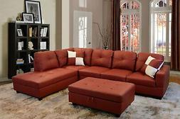 Beverly Fine Furniture F094B Right Facing Russes Sectional S