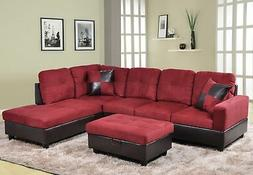 Beverly Fine Furniture F104B Andes Microfiber with Faux Leat