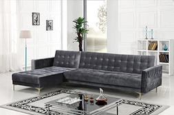 Iconic Home FSA9007-AN Amandal Convertible Sofa Sleeper Bed