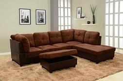 Lifestyle Furniture Left Facing 3PC Sectional Sofa Set,Micro