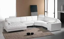 furniture monaco white leather sectional