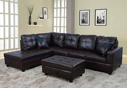 Lifestyle Furniture Right Facing 3PC Sectional Sofa Set,Faux