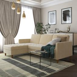 Futon Living Room Furniture Sofas Couches Home Ivory Section