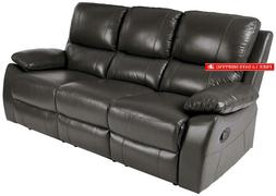 "Homelegance Greeley Manual Reclining Sofa, 79"" W, Gray Gen"