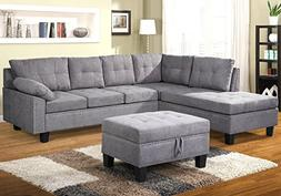 Harper & Bright Designs Sectional Sofa Set with Chaise Loung