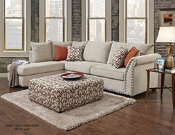 Chelsea Home 2-Pc Traditional Sectional Sofa Set in Patton B