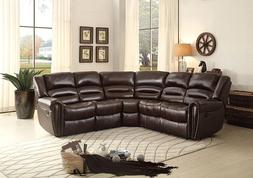 Homelegance Palmyra 3 Piece Bonded Leather Reclining Section