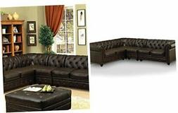 HOMES: Inside + Out Jaden Traditional Sectional Sofa, Brown