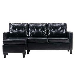 hot sectional sofa set pu leather l