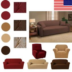 Household Stretch Sofa Couch Cover Recliner Seat Slipcover S