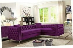Iconic Home Mozart Left Hand Facing Sectional Sofa L Left Se